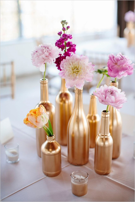 Picture Of creative ways to decorate your wedding with wine bottles  1