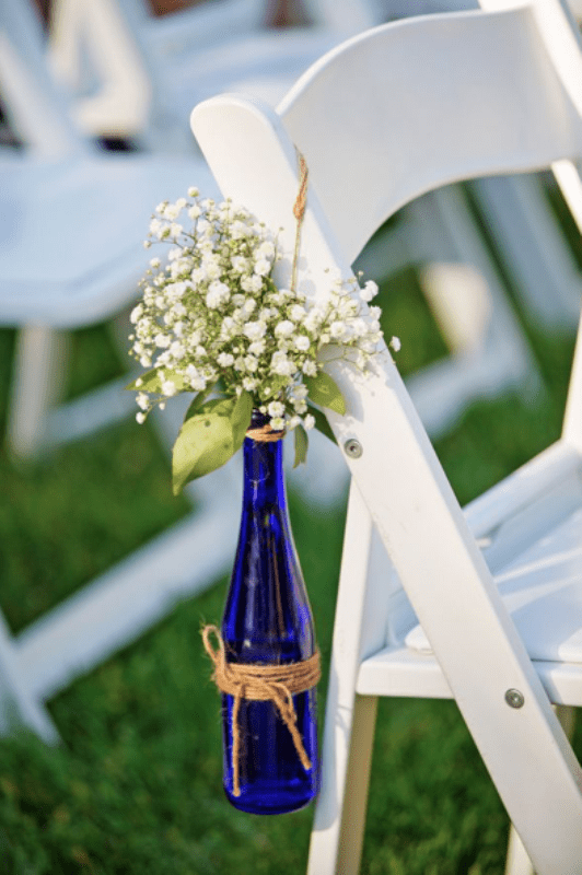 Picture Of creative ways to decorate your wedding with wine bottles  11