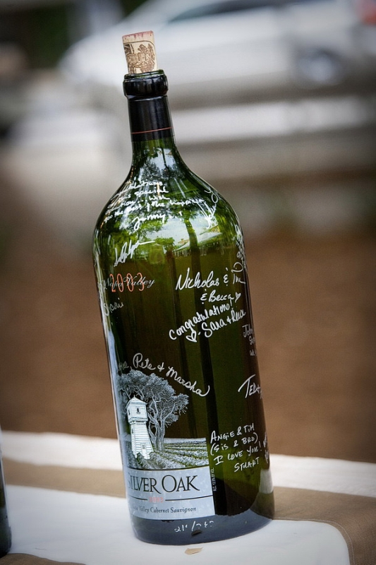 Picture Of creative ways to decorate your wedding with wine bottles  12