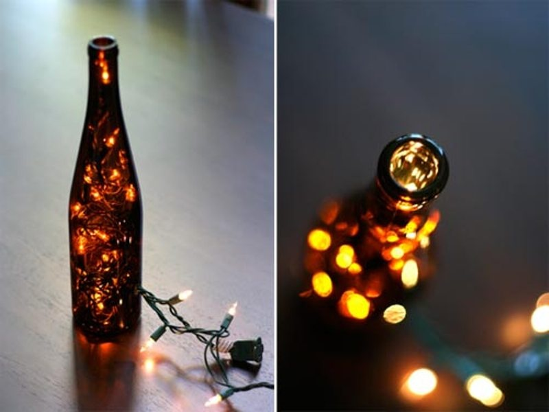 Picture Of creative ways to decorate your wedding with wine bottles  14