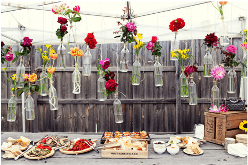 Picture Of creative ways to decorate your wedding with wine bottles  3