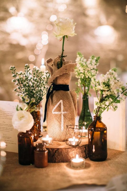 Picture Of creative ways to decorate your wedding with wine bottles  6