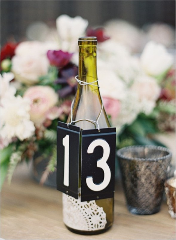 Picture Of creative ways to decorate your wedding with wine bottles  7