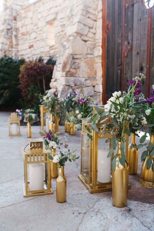 Picture Of creative ways to decorate your wedding with wine bottles  8