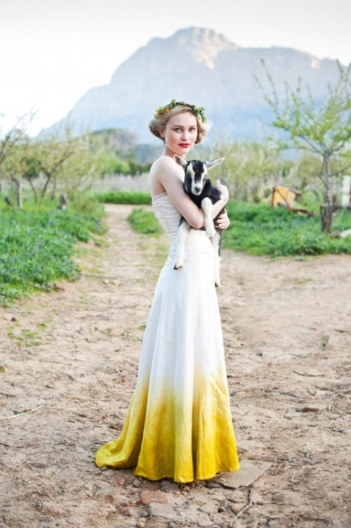15 Gorgeous Dip Dye Wedding Dresses To Get Inspired