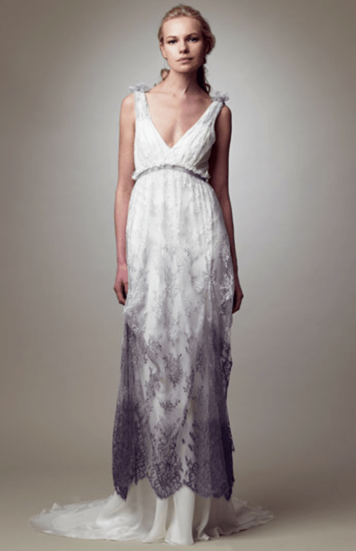 15 Gorgeous Dip Dye Wedding Dresses To Get Inspired - Weddingomania