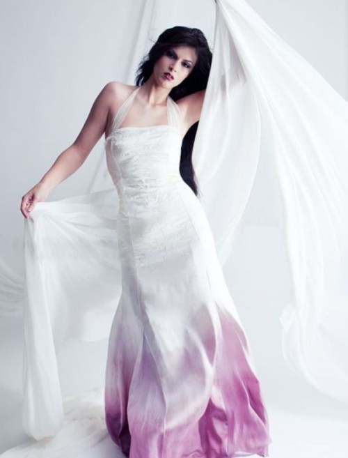 15 gorgeous dip dye wedding dresses to get inspired for Dyeing a wedding dress professionally