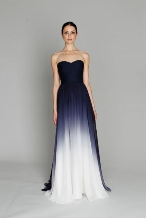 15 Gorgeous Dip Dye Wedding Dresses To Get Inspired - Weddingomania
