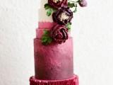 15-stunning-marsala-wedding-cake-ideas-13