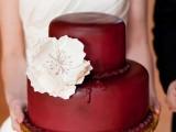 15-stunning-marsala-wedding-cake-ideas-6