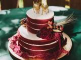 15-stunning-marsala-wedding-cake-ideas-7