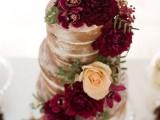 15-stunning-marsala-wedding-cake-ideas-8