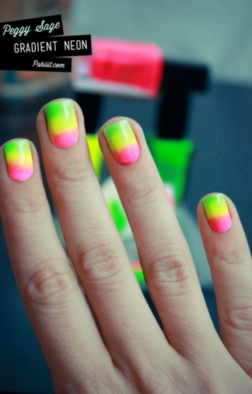 Ways To Rock Neon Nails On Your Wedding Day