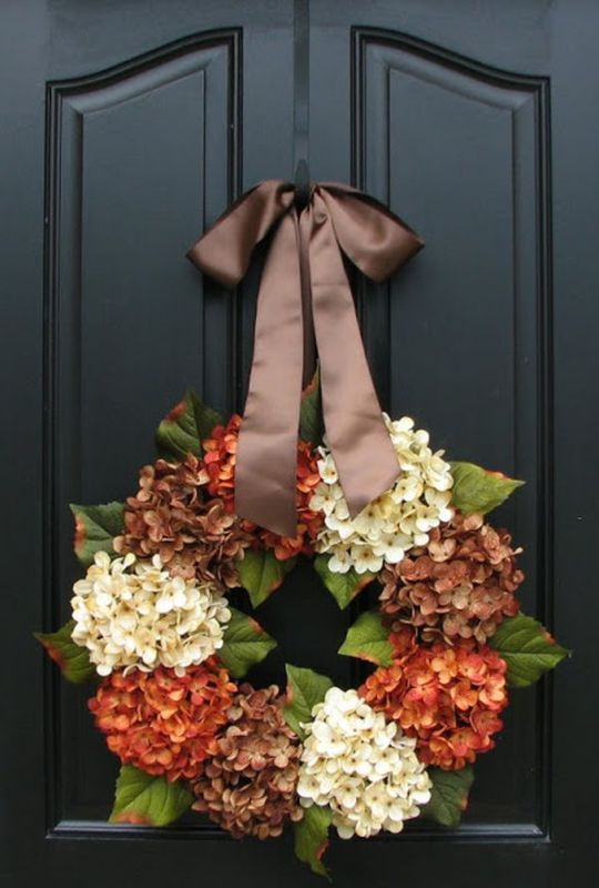 Picture Of colorful fall wreaths for your wedding decor  10