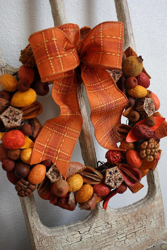 Picture Of colorful fall wreaths for your wedding decor  11