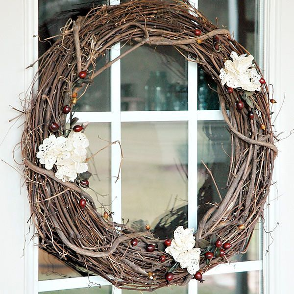 Picture Of colorful fall wreaths for your wedding decor  13