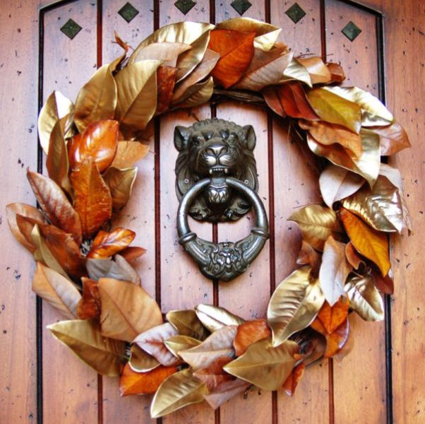 Picture Of colorful fall wreaths for your wedding decor  16