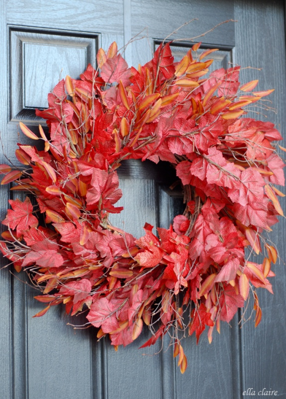 Picture Of colorful fall wreaths for your wedding decor  3
