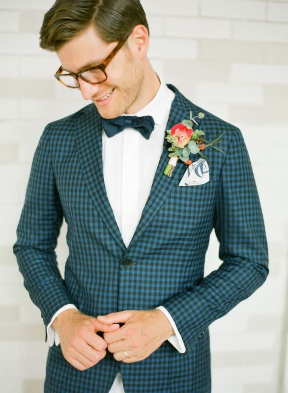 Picture Of patterned suits to spruce up your grooms look  1