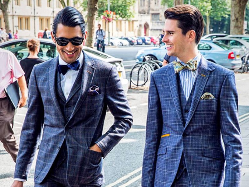 Picture Of patterned suits to spruce up your grooms look  11