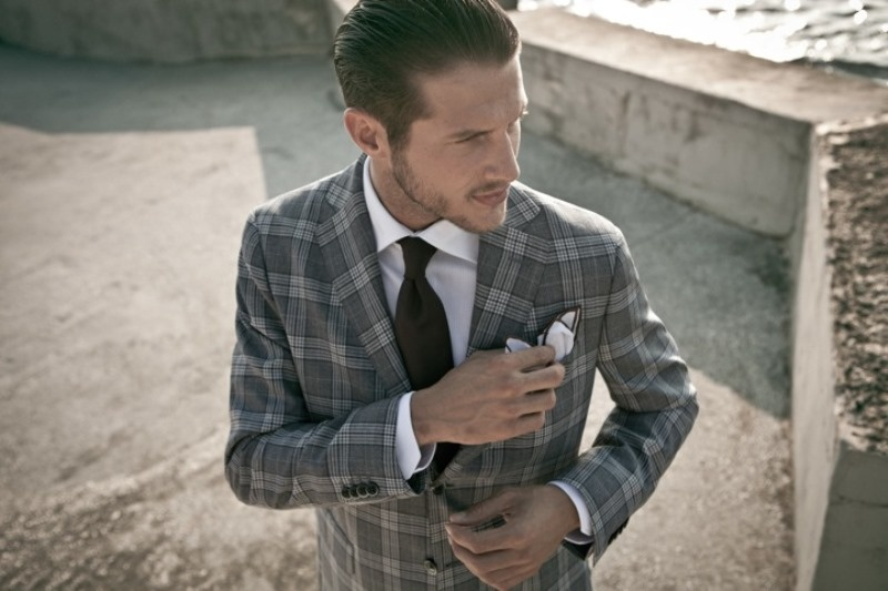 Picture Of patterned suits to spruce up your grooms look  13