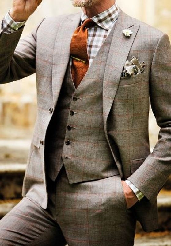 Picture Of patterned suits to spruce up your grooms look  3