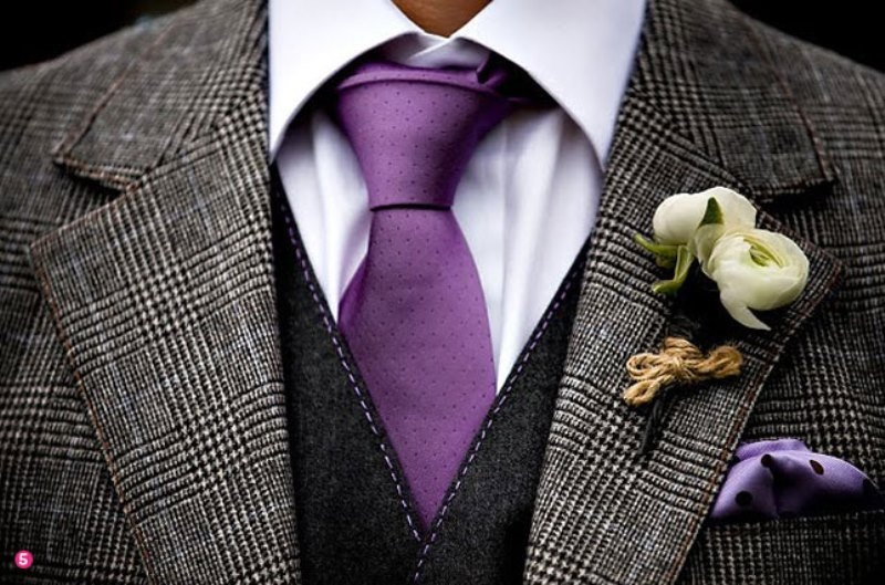 Picture Of patterned suits to spruce up your grooms look  4