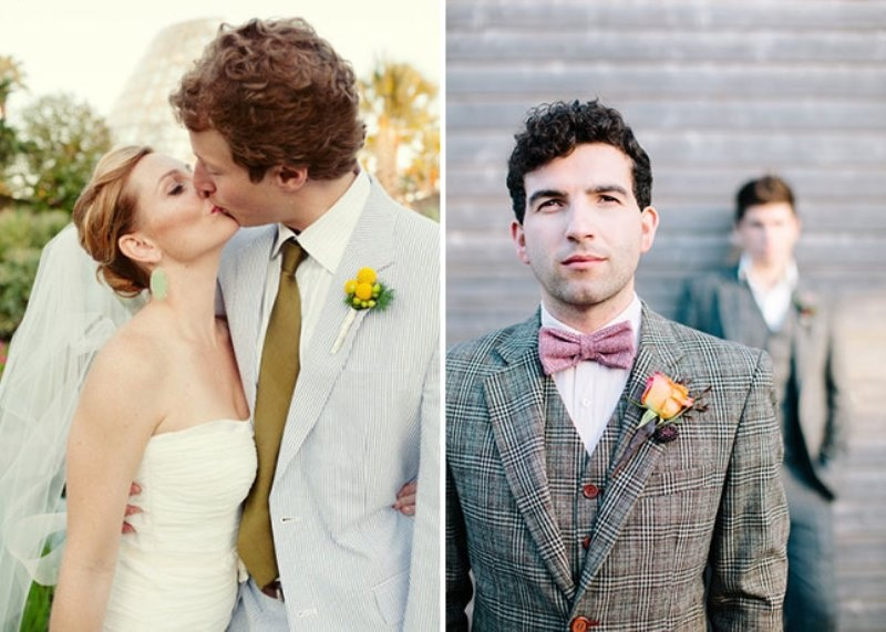Picture Of patterned suits to spruce up your grooms look  7