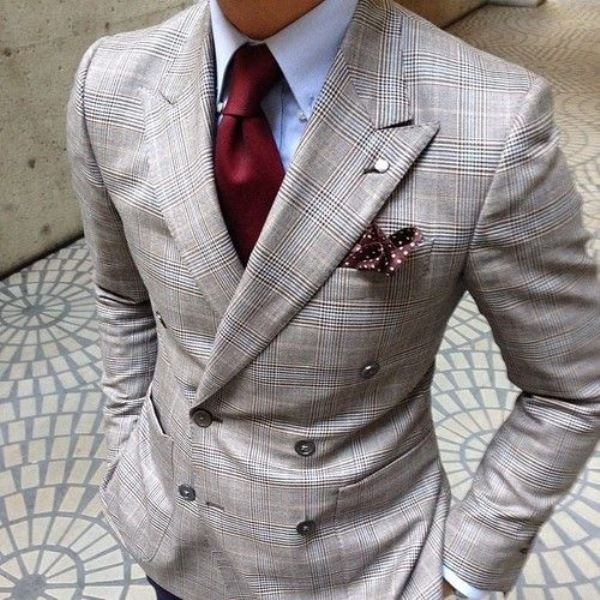 Picture Of patterned suits to spruce up your grooms look  8