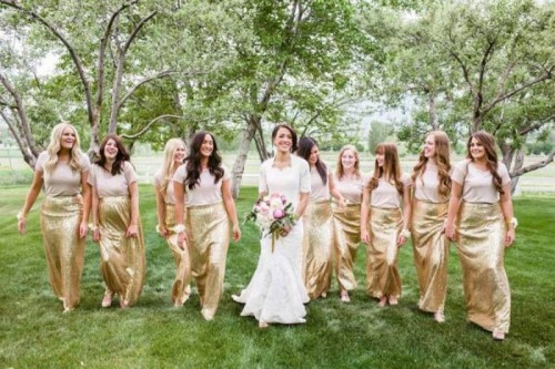 17 Pretty Maxi Skirt Bridesmaids' Style Ideas