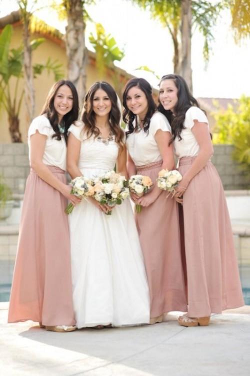 17 Pretty Maxi Skirt Bridesmaids Style Ideas Weddingomania