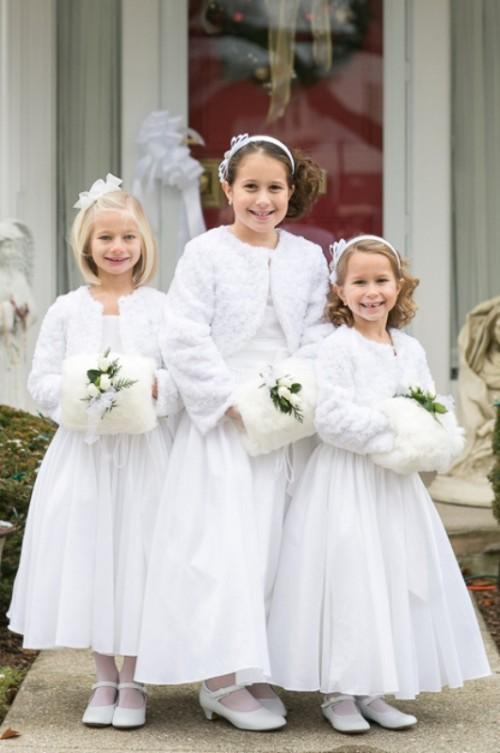 Winter Wonderland Flower Girl Dresses 51