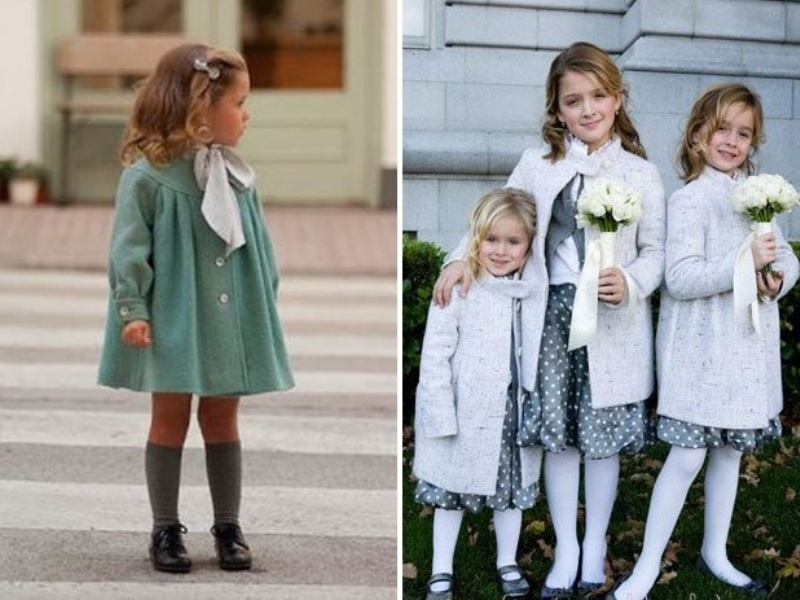 Picture Of pretty winter flower girl outfits  2