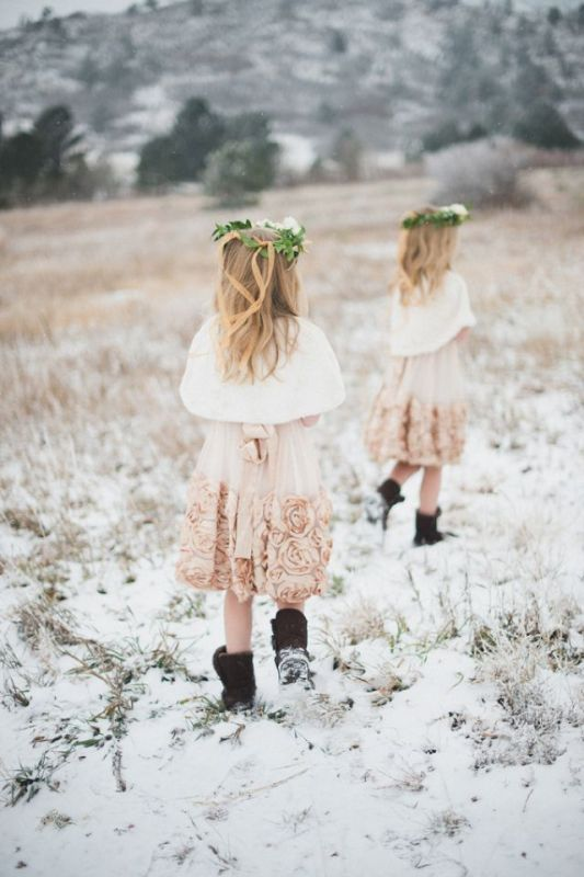 Picture Of pretty winter flower girl outfits  9