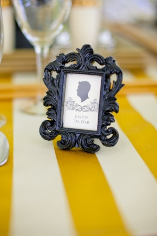 Silhouette Wedding Placement Cards And Escort Cards