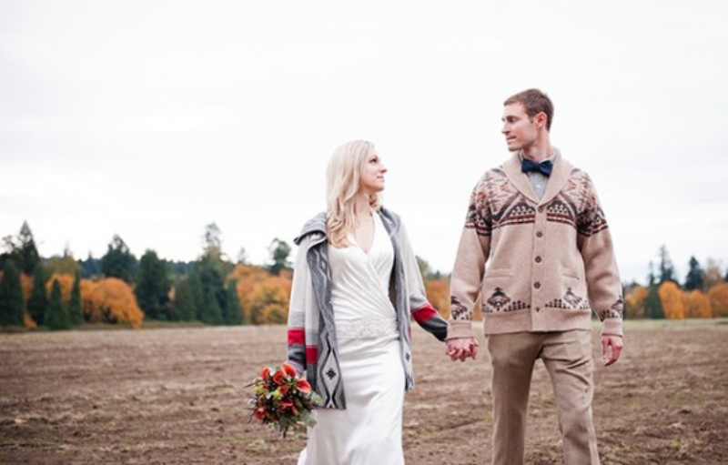 Picture Of smart casual looks with sweaters for a groom and his men  11