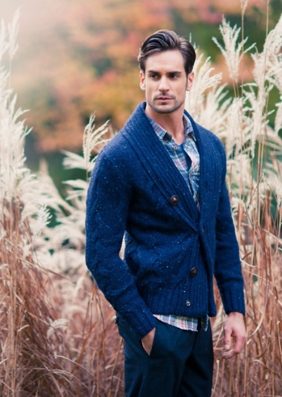 Picture Of smart casual looks with sweaters for a groom and his men  2