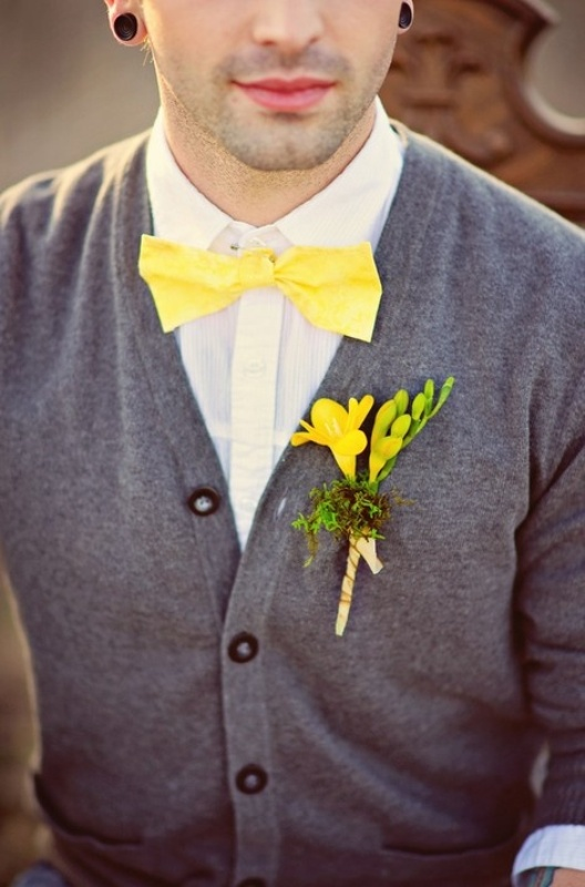 Picture Of smart casual looks with sweaters for a groom and his men  7