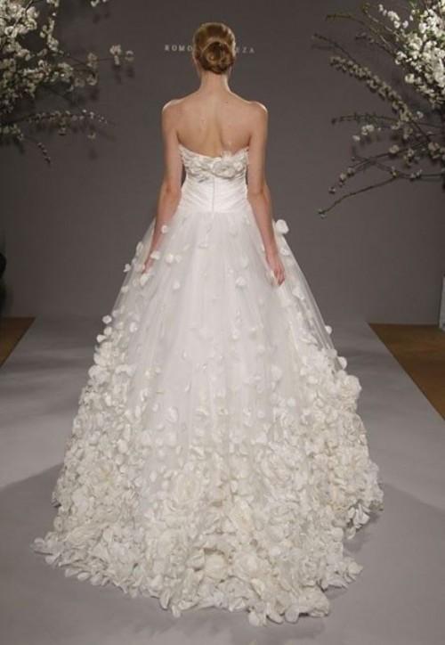 flower petal wedding dress images. Black Bedroom Furniture Sets. Home Design Ideas