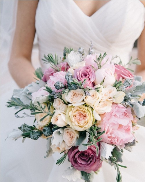 Pastel Wedding Flowers: 18 Tender Mixed Pastels Wedding Bouquets