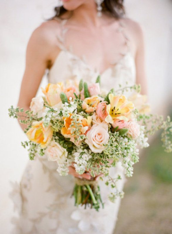 Picture Of mixed pastels wedding bouquets  13