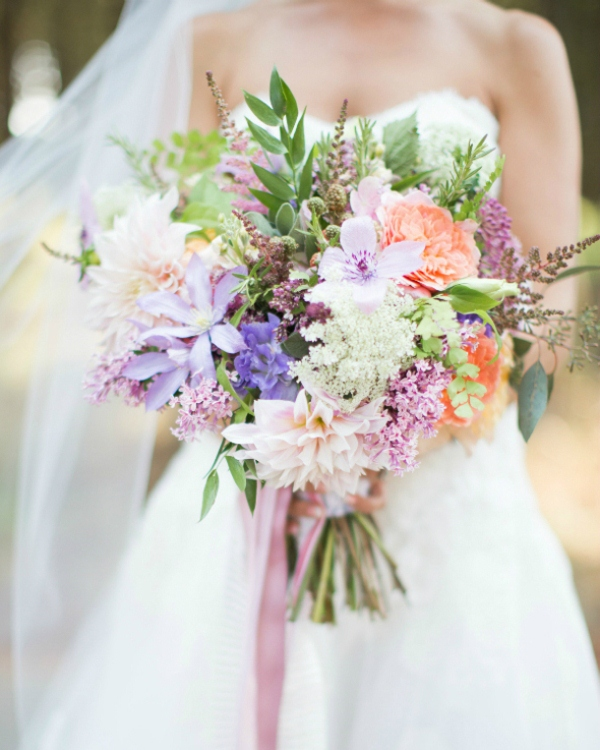 Picture Of mixed pastels wedding bouquets  17