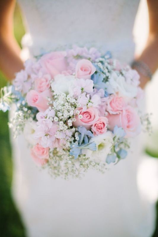 Picture Of mixed pastels wedding bouquets  18