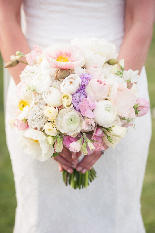 Picture Of mixed pastels wedding bouquets  3