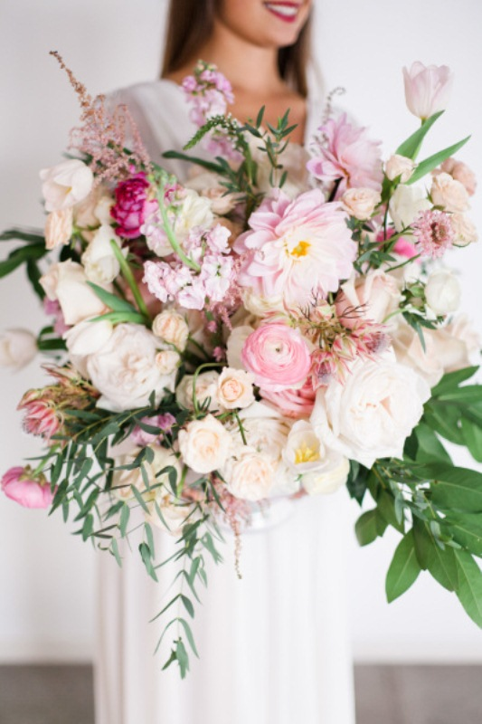 Picture Of mixed pastels wedding bouquets  5