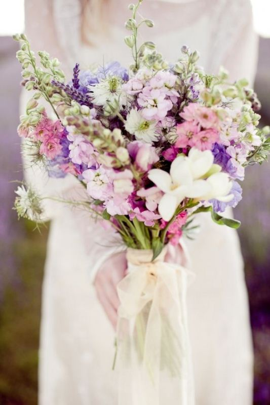 Picture Of mixed pastels wedding bouquets  6