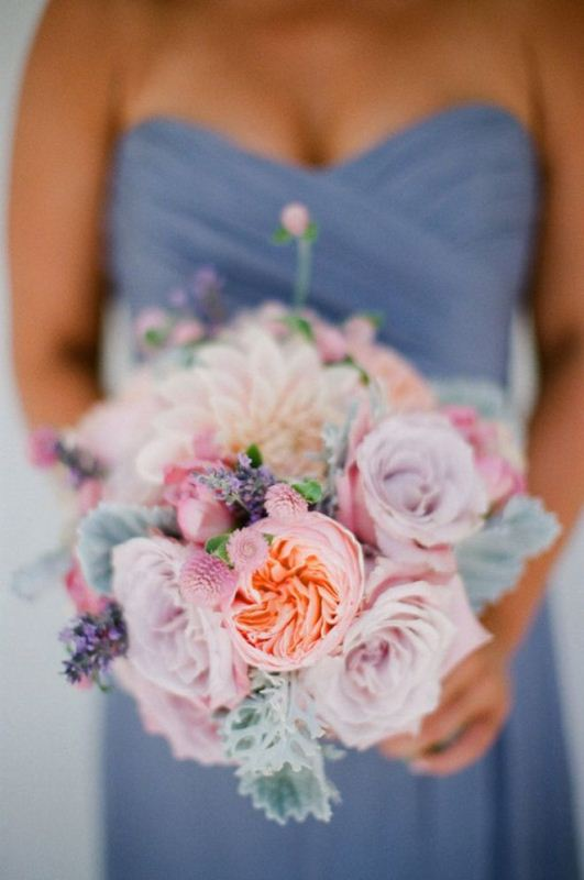 Picture Of mixed pastels wedding bouquets  9