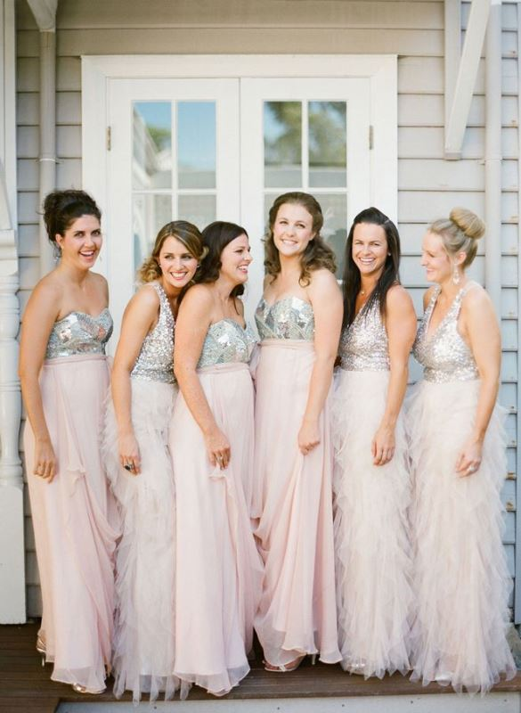 Picture Of charming bridesmaids dresses with ruffles  1