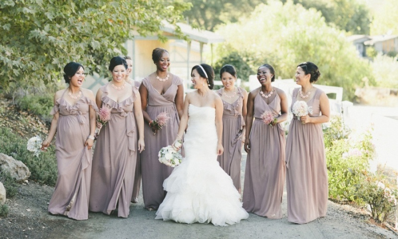 Picture Of charming bridesmaids dresses with ruffles  12