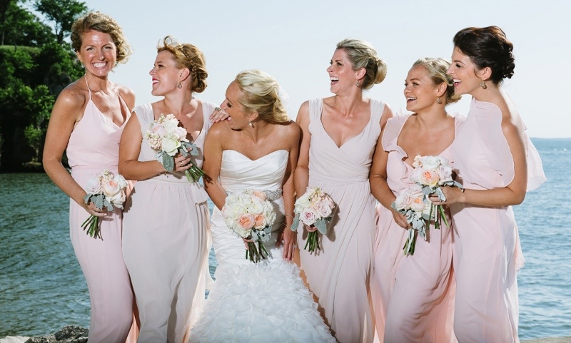 Picture Of charming bridesmaids dresses with ruffles  14